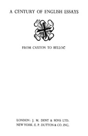 A Book Of English Essays  We Williams  Free Download  A Century Of English Essays From Caxton To Belloc
