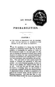 a philosophical essay on probabilities laplace pierre simon  an essay on probabilities