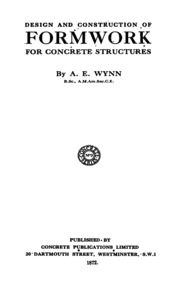Design And Construction Of Formwork Wynn A E Free Download Borrow And Streaming Internet Archive