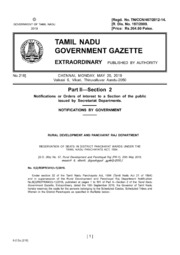 Tamil Nadu Gazette, 2019-05-20, Extraordinary, Part II