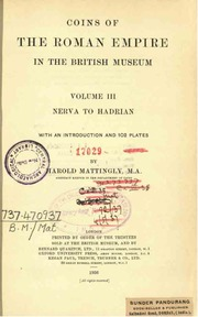 Internet archive search subjectmattingly harold or subject coins of the roman empire in the british museum vol3 nerva to hadrian fandeluxe Choice Image