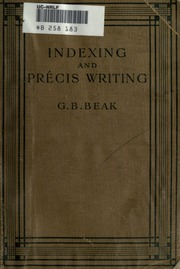 the precis indexing in library and A us indexer attends a precis indexing workshop barbara m preschel after attending a precis indexing workshop in the united states, a us indexer and teacher.