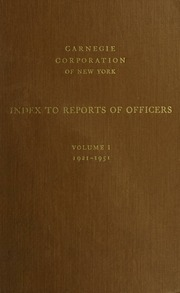 Index to reports of officer...