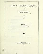 Indiana Historical Society publications : Indiana Historical