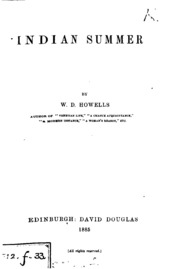 an analysis of indian summer by william dean howells An analysis of james's late  the basil and isabel march stories of william dean howells jerome  a study of the artistry of indian summer marion w.