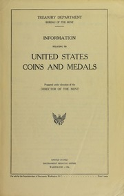 Information Relating to United States Coins and Medals