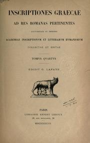 Cagnat Inscriptiones cover