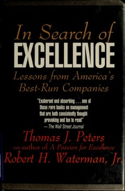 In search of excellence lessons from americas best run companies in search of excellence lessons from americas best run companies peters thomas j free download borrow and streaming internet archive publicscrutiny Gallery