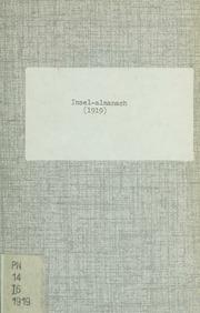 Vol 1919: Insel-Almanach auf das Jahr ..