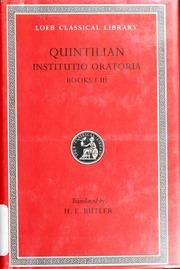The Institutio Oratoria Of Quintilian Quintilian Free