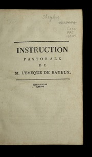 Instruction pastorale de M. l-évêque de Bayeux.