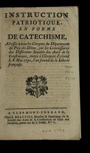 Instruction patriotique en forme de catechisme : adressée à tous les citoyens du département du Puy-de-Dôme