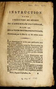 Instruction pour l-exécution du décret