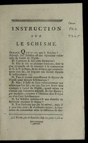 Instruction sur le schisme.