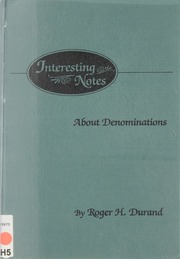 Interesting Notes About Denominations