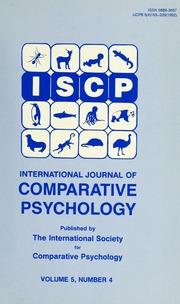 journal of comparative psychology pdf
