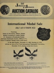 International Medal Sale: J & J Auction #22
