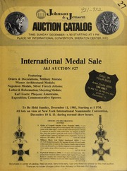 International Medal Sale: J & J Auction #27