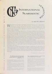 International Numismatic Newsletter 26 (Summer 1995)