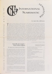 International Numismatic Newsletter 28 (Summer 1996)