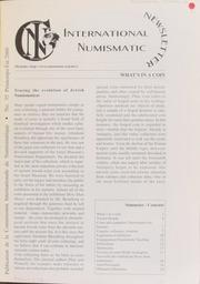 International Numismatic Newsletter 35 (Spring-Summer 2000)