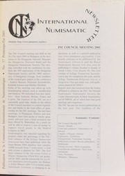 International Numismatic Newsletter 37 (Spring-Summer 2001)