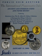 The International Numismatic Sale of Ancient and Foreign Coins and Paper Money