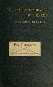 Interpretation Of Dreams By Sigmund Freud Pdf