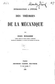 Introduction à l-étude des théories de la mécanique ..