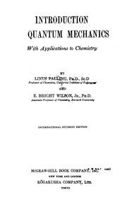 Introduction To Quantum Mechanics : Pauling,Linus  : Free