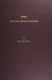 Iowa Obsolete Notes and Scrip