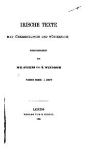 Vol 4, pt. 1: Irische Texte mit Wörterbuch