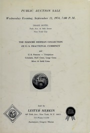 Isadore Herman Collection of U.S. Fractional Currency