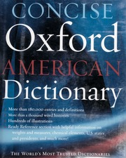 Concise Oxford American dictionary : [Erin McKean, editor in chief