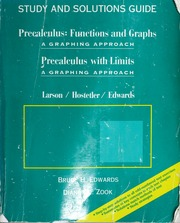 Study and solutions guide for Precalculus : functions and
