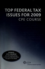 Top federal tax issues for 2007 cpe course cch incorporated free similar items based on metadataplay play all daisy books for the print disabled 21 21 borrow top federal tax issues for 2008 cpe course fandeluxe Images
