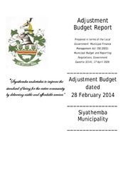 NC077 Siyathemba Adjustment Budget 2013-14