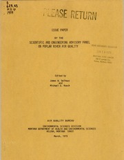 Issue paper, 1979