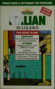 Italian at a glance : phrase book & dictionary for travelers
