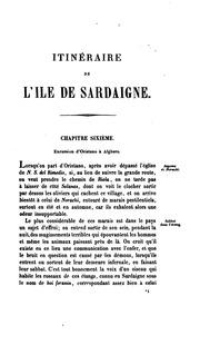 Itinéraire de l-ile de Sardaigne pour faire suite au Voyage en cette contrée.