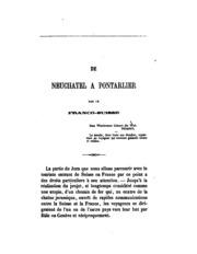 Itinéraire descriptif du chemin de fer Franco-Suisse de Neuchâtel à Pontarlier