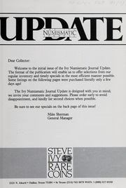Ivy Numismatic Journal Update: 1981