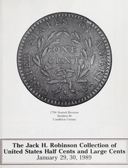 The Jack H. Robinson Collection of Large Cents and Half Cents