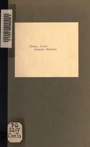Jacques Gervais, comédie en 4 actes. Représentée pour la première fois à Bruxelles sur le Théatre royal du parce le 24 nov. 1882