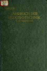 Vol 1921: Jahrbuch der Elektrotechnik