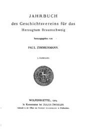 Vol 3: Jahrbuch des Geschichtsvereins für das Herzogtum Braunschweig