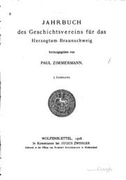 Jahrbuch des Geschichtsvereins für das Herzogtum Braunschweig