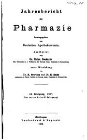 Vol 42: Jahresbericht der Pharmazie