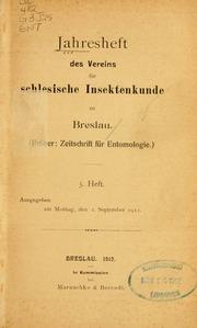 Vol Heft.5-8 1912-1915: Jahresheft des Vereins für schlesische Insektenkunde zu Breslau