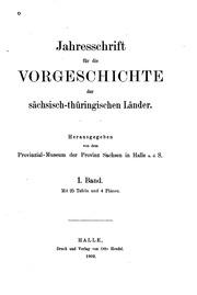 Jahresschrift für Mitteldeutsche Vorgeschichte